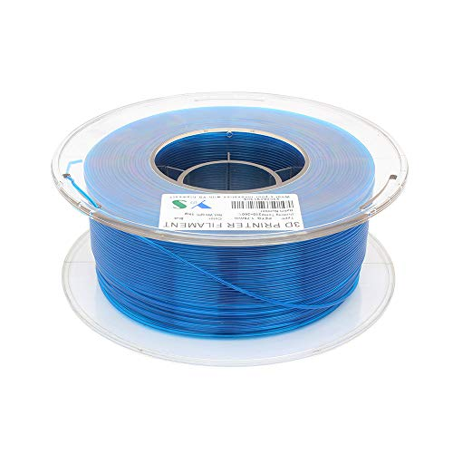 Petg 3D Filament, Tickas Petg Filament, PETG Filament 3D Printer Filaments 1.75 MM Dimensional Accuracy High Tenacity 3D Printing Consumables 1KG Spool Blue