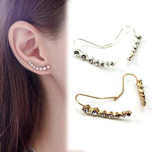HuntGold 1 Par pendiente cristal mujeres Ear Stud