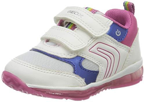 Geox B Todo Girl B, Zapatillas para Bebés, Blanco (White/Fuchsia C0563), 22 EU