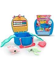 Crayola Washimals - Oceans Pets Set Concha,para Decorar y Personalizar con rotuladores siguiendo la imaginación, Juego por niños de 3 años