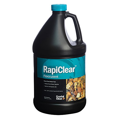 CrystalClear RapiClear Liquid Flocculent - Pond Water Clarifier - 1 Gallon Treats Up to 64,000 Gallons