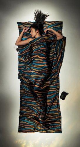 Cocoon Hüttenschlafsack aus Seide, Afr Rainbow, 86