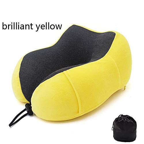 U Shaped Travel Pillow Neck,Comfort Neck Support Cushionfoam Soft Slow Rebound Solid Neck Yellowfalling Asleep