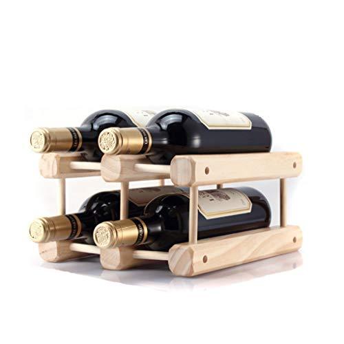 Aveo Botellero Estante de Vino de Madera Independiente Modular Extensible, Estante Robusto del Almacenamiento de Botellas Cocina Botelleros (Color : G)