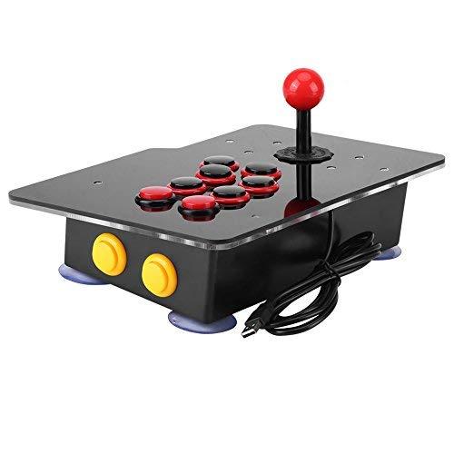 NoBrand Arcade Fight Stick Máquina de Juegos con USB para PC Home, Joystick Zero Delay Classical Game Controller (