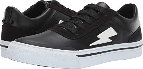 Neil Barrett Men's Thunderbolt Skater Sneaker Black/White 44 M EU