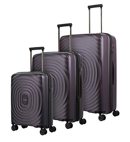 TITAN 4-Rad Koffer Set Hartschale L/M/S mit TSA Schloss, Handgepäck Koffer erfüllt IATA Borgepäckmaß, Gepäck Serie LOOPING: Robuster und Leichter...