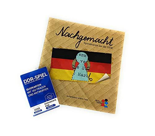 DDR-Nostalgie Spiele-Set | Spielekopien aus der DDR + Quizkarten-Spiel | auch zum Verschenken