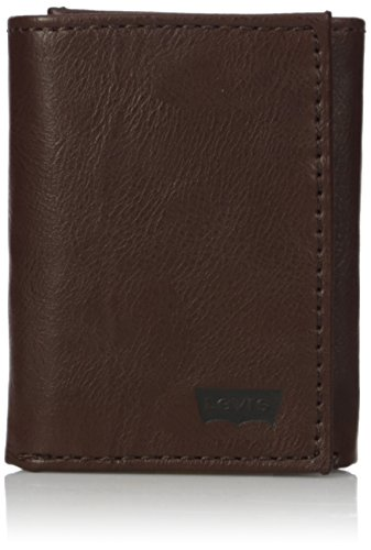 Levi's Men's RFID Trifold Wallet-Sleek and Slim Includes ID Window and Credit Card Holder, Toasty Brown, One Size