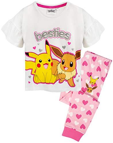 Pokemon Pijama Pikachu y Eevee con Volantes, Pijama de pantalón Largo o Corto 11-12 años