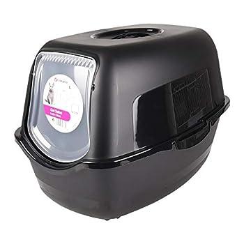 FLAMINGO - Maison de Toilette Lexie Noir 39 x 56 x 39.5 cm pour Chat - FL-560851