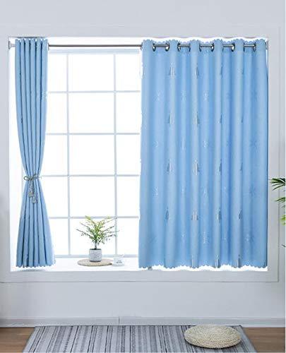 Vaste Kleurschakering Isolatie Gordijn Eenvoudige Zonnescherm Doek Kan Worden Aangepast Formaat,Blue,100 * 180CM