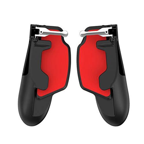 GJWHENS Mobile Dispositivo de Juego, para de PUBG, Objetivo y Disparar gatillo, para Xiaomi/iPhone/Samsung/Android/iPad,Rojo