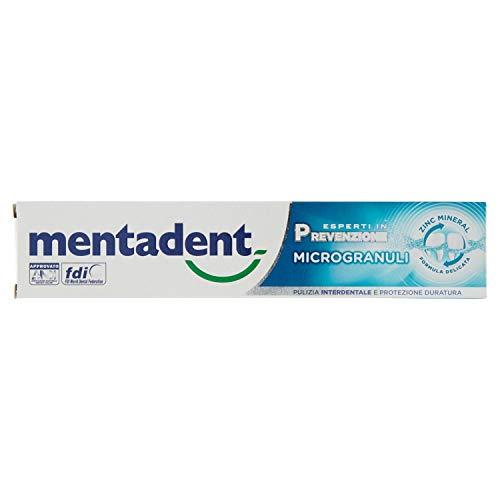 Mentadent Microgranuli per Denti Sani e Protetti dalla Placca con Antibatterico, 75 ml