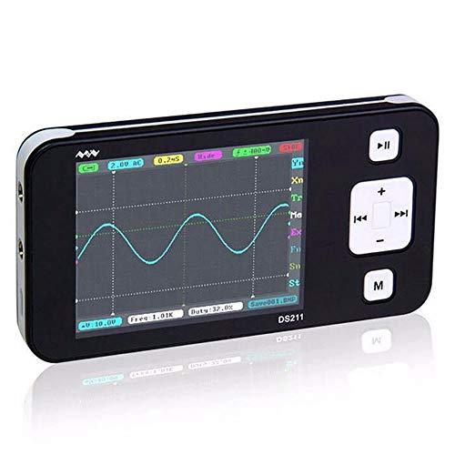 NO BRAND Osciloscopio Digital Mini DS211 DS211 Arm Nano Portable del Bolsillo del osciloscopio Digital (Color : Negro, tamaño : Un tamaño)
