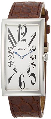[ティソ] 腕時計 ヘリテージ バナナ センテナリー クォーツ シルバー文字盤 レザー T1175091603200 メンズ 正規輸入品 ブラウン