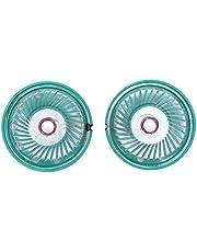 tellaLuna 36mm de diámetro de aluminio Shell imán interno altavoz 16 ohmios 0.25W 2pcs