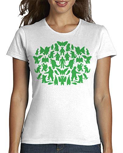 latostadora - Camiseta Monstruos Big Bang Theory para Mujer Blanco S