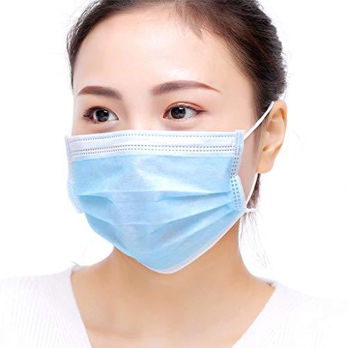Masker Verwijderbare Mond Gezicht Maskers, Non-woven bescherming, Anti-Stof Ademende Maskers 50 eenheden Blauw