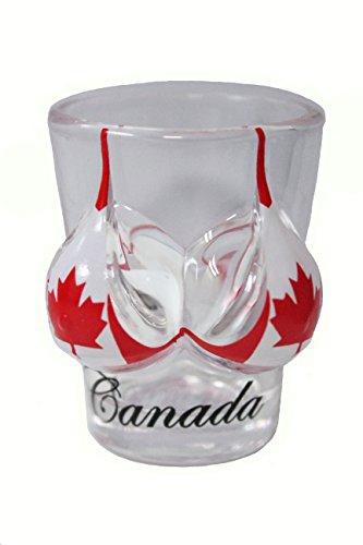 Canada Country Flag Bikini 1.5 Oz SHOTGLASS New