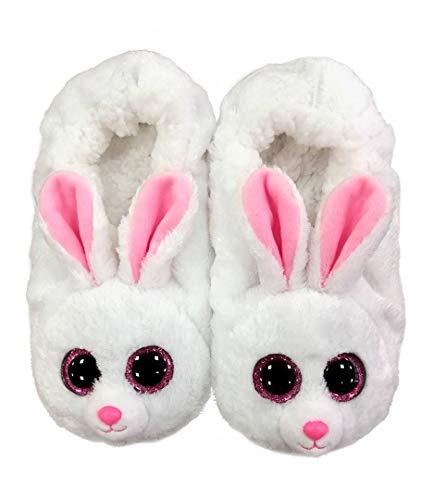 Ty Jungen Mädchen Fashion Pantofole Bunny Large Taglia 35/37 Hausschuh, Bianco, EU