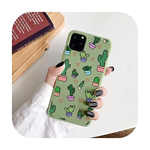 Fashion Bee Cactus Case para iPhone 11 Pro 12mini Max XR X XS Max SE 2020 7 8 6 S Plus 5 Couqe para iPhone 12 Pro Max Soft Fundas-Kcl-daixixrz-para iPhone Xs Max