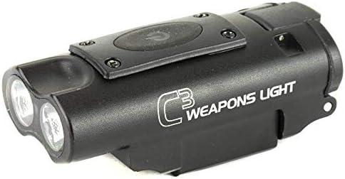 LUCID Optics C3 Weapons Light Fits 1913 Picatinny Rail 300 Lumens Black L C3 LIGHT product image