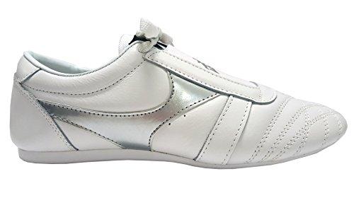 DOUBLE Y Chaussures Arts Martiaux en Cuir Blanc T41