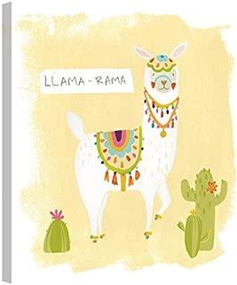 Easy Art Prints June Erica Vess's 'Pom Pom Llama Rama III' Premium Canvas Art 12 x 12