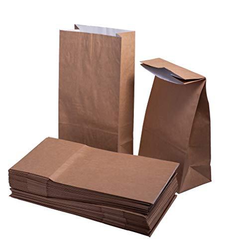Keephot Platte bodem Vetvrije folie gevoerd Hot Duurzame dubbele laag papieren zakken Geschikt voor warm en vet voedsel - 10.5