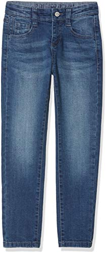 s.Oliver RED LABEL Jungen Slim Fit: Slim leg-Denim mit 5-Pocket-Form blue stretched den 140.SLIM