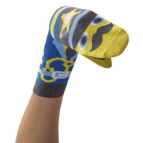 WalkyTalkies - 1 Paar Socken/Handpuppen SPÜRNASEN Polizist Gotcha
