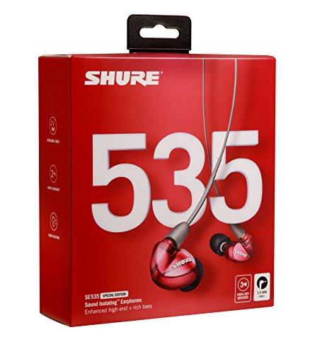 SHUREイヤホンSEシリーズSE535SpecialEditionカナル型高遮音性レッドSE535LTD-A【国内正規品】