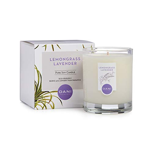 DANI Naturals Scented Soy Candle - Kosher, Eco Friendly and Non Toxic - Lemongrass Lavender Scented – 7.5 Ounces