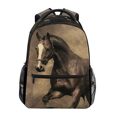 Shoulder Backpack Fat Horse Brown Stylish Large School College Laptop Backpacks Bag Bookbags