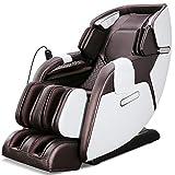 Sillón de masaje Shiatsu Zero-Gravity 3D para masaje de cuerpo entero, con calefacción, USB, Bluetooth, cómodo sillón de relax eléctrico con técnicas de masaje biónico, modelo 2021