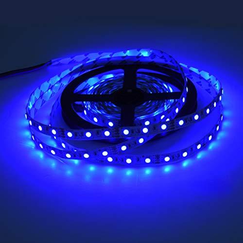 Striscia LED 5m 12v, Striscia led Blu, 600 LED Strip Luce nastro luminoso Flessibile 720LM per Illuminazione Domestica Magazzino Negozio Non-Impermeabile IP20 Nessun adattatore