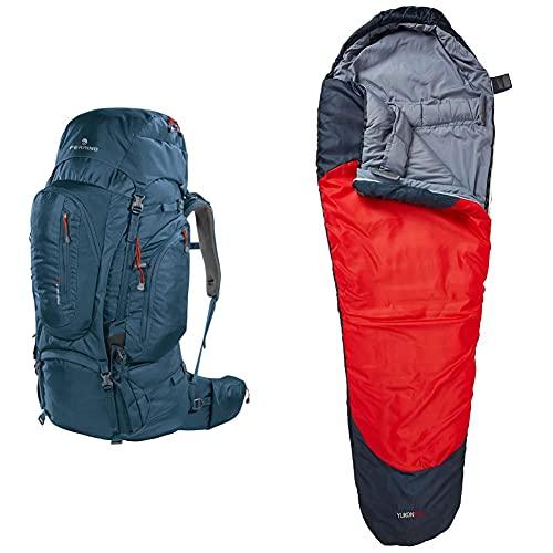 Ferrino Transalp Zaino Da Hiking Ed Escursionismo Unisex, Blu, 100 L & Yukon Pro, Sacco A Pelo Uomo, Rosso Scuro, S