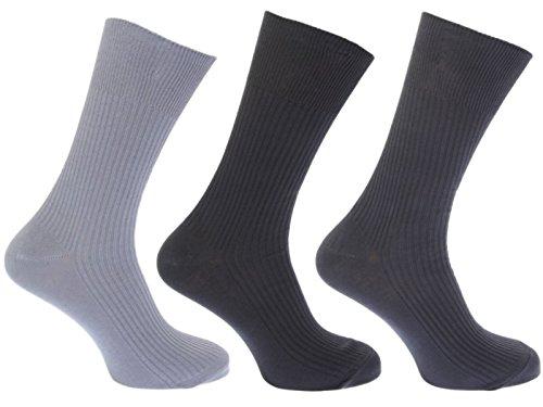Hosiery-Direct-UK®Herren Socken Schwarz Mixed Darks