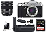 FUJIFILM X-T3 Mirrorless Digital Camera with XF 16-80mm Lens (Silver) Bundle, Includes: SanDisk 64GB Extreme PRO SDXC Memory Card, Fujifilm VG-XT3 Vertical Battery Grip + More (6 Items)