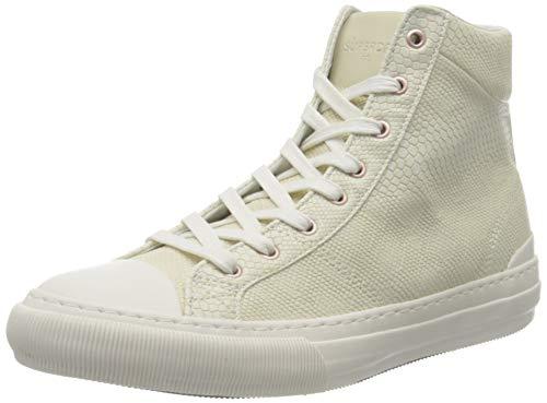 Superdry Premium Pacific High Top, Zapatillas Altas para Mujer, Beige (Soft White L6o), 38 EU