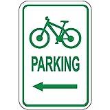 XIAODAN - Placa de metal retro para pared, diseño de aparcamiento de bicicleta con flecha izquierda con símbolo de estilo antiguo y retro, 20 x 30 cm