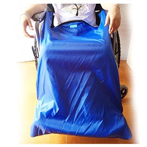 Manta cálida a prueba de viento para silla de ruedas con bolsillos para los pies, cubierta universal para silla de ruedas acogedora para ancianos y discapacitados,Thicksection(small)