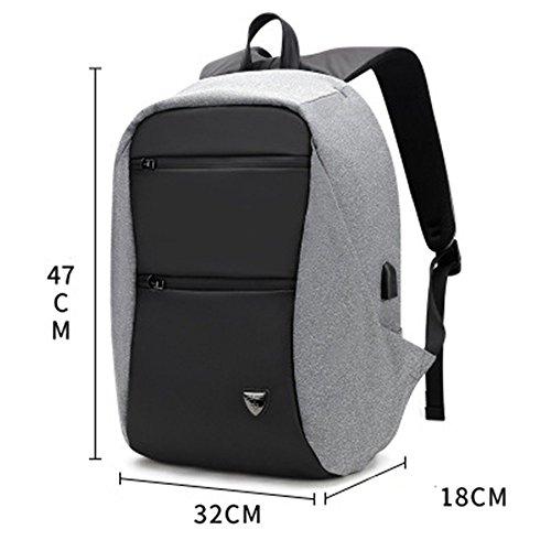Leon's winkel rugzakken, mannen multi functie schoudertas business anti-diefstal tas USB opladen tas computer tas reistas