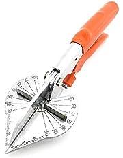 JIALONGZI Tijeras de inglete - Tijeras de Corte para Corte Angular de molduras y Recortes en ángulos de 45 Grados a 135 Grados