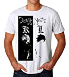 Nomorefamous Death Note Series Black And White Characters Men's T-Shirt Maglietta Maglia Small
