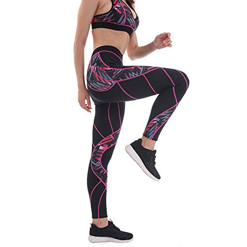 2mm Neoprene Pants Women Weight Loss Ninth Sauna Leggings (Fuchsia 01,L)