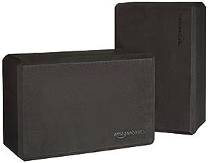 Basics Yoga Blocks, Set of 2 - Black by AmazonBasics