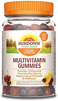 Sundown Adult Multivitamin with Zinc Vitamins A C D E Supports Immune Health Non GMO Free of product image