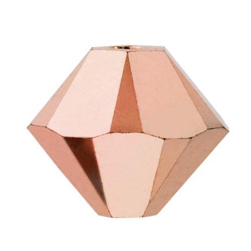 Swarovski Elements 5328 - Cuentas de cristal bicono, 3 mm, cristal oro rosa de doble cara (25...